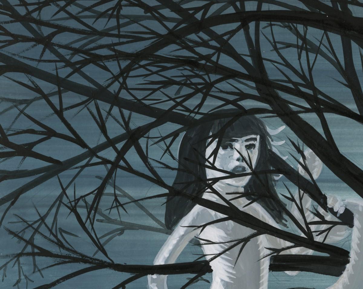 Bez tytułu [Dziewczyna na drzewie]