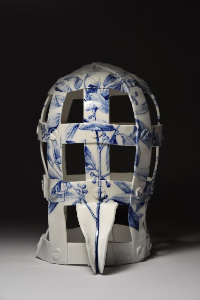 Maska wstydu VII z serii O próżnej sławie i ulotnym smaku truskawki lub poziomki